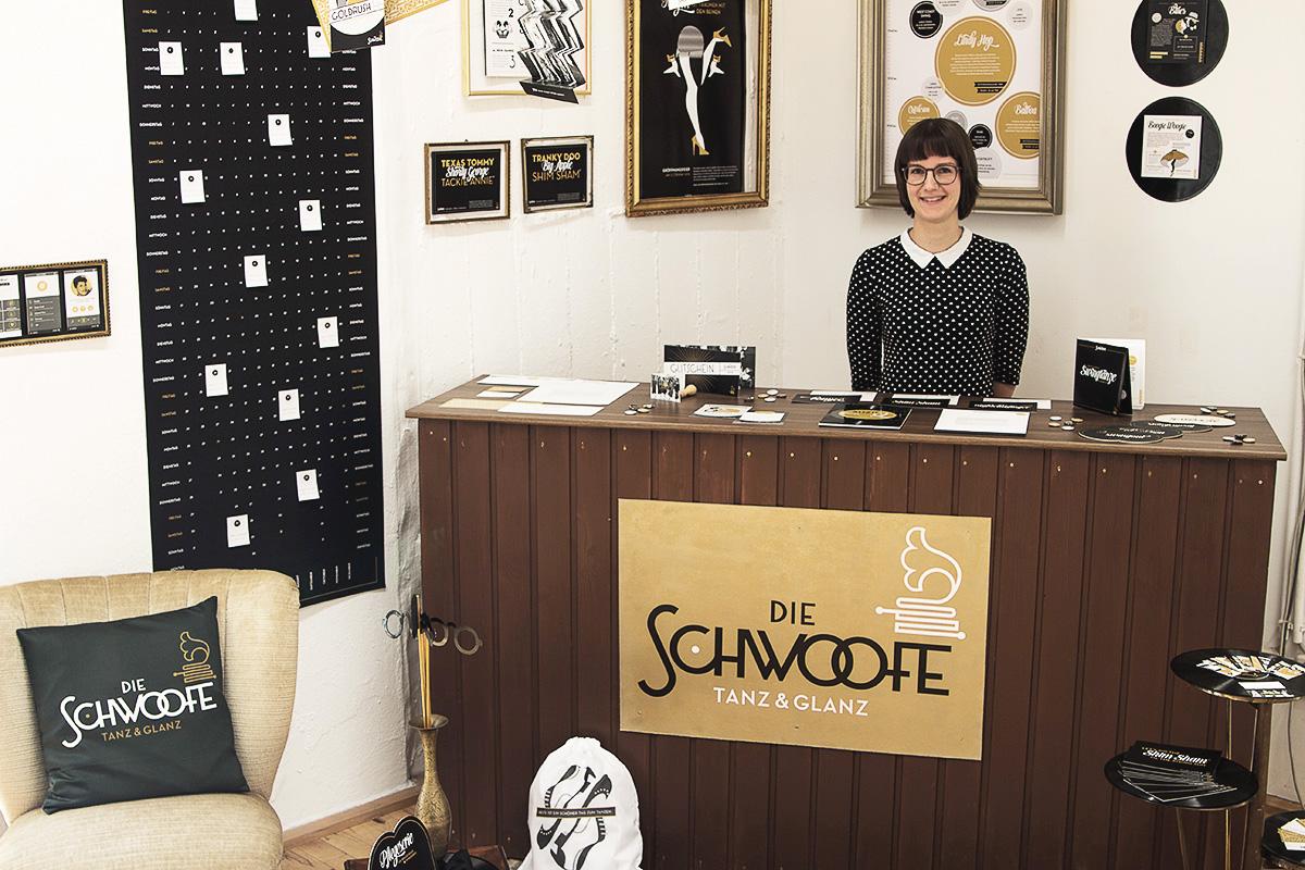 Der Stand des Abschlussprojektes bei den ALSTERDAMM OPEN DAYS 2014, mit Studentin Julia Koch