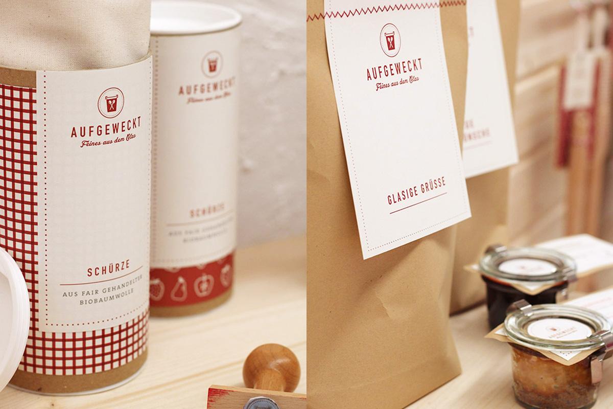 Abbildung von Produkten der Marke »Aufgeweckt«