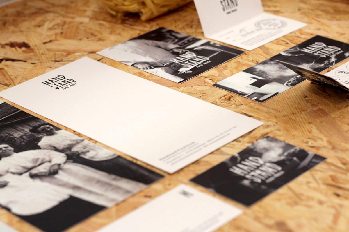 Visitenkarten und Fotos des Abschlussprojektes von Felix Koch